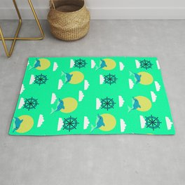 Dolphins play Rug