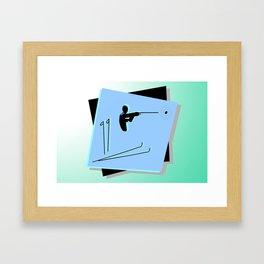 Biathlon silhouettes Framed Art Print