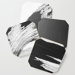 Black and White Gallery Wall Art Coaster