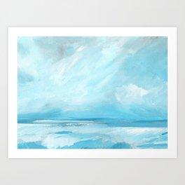 Resurgence - Stormy Ocean Seascape Art Print