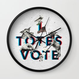 I Totes Vote Wall Clock