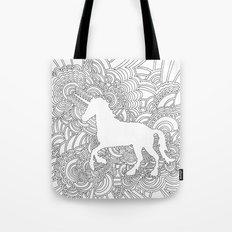 Unicorn Drawing Meditation Tote Bag