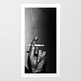 The Smoking Hand Art Print