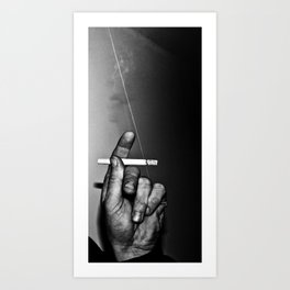 The Smoking Hand Art Print