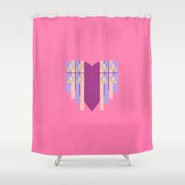 17 E=Hearty2 Shower Curtain