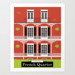 The French Quarter  New Orleans Art Print