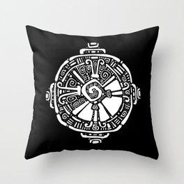 Hunab Ku.  Mayan symbol. Hand Drawn detailed pattern. Throw Pillow