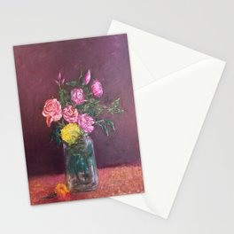 Floral In A Jar  Oil on Canvas  Stationery Cards