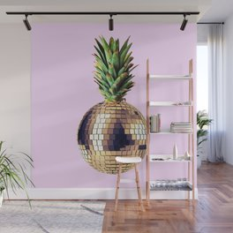 Ananas party (pineapple) Pink version Wall Mural