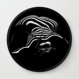 0686-AR BW Contemporary Art Nude Large Woman BBW Graceful and Strong Wall Clock