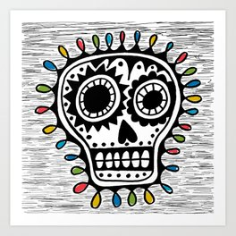 Sugar Skull - sharpie Art Print