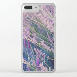 Spring Lavender Mist Clear iPhone Case