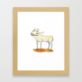 Goat with luscious lips. Framed Art Print