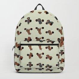 Olympic Lifting Dachshund Backpack