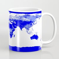 map of the world Mugs featuring World map by Whimsy Romance & Fun