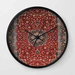N63 - Red Heritage Oriental Traditional Moroccan Style Artwork Wall Clock