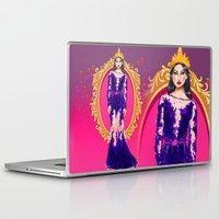 evil queen Laptop & iPad Skins featuring  Queen Grimhilde ( The Evil Queen ) by Sara Eshak