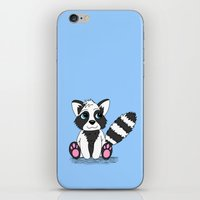 racoon iPhone & iPod Skins featuring Racoon by BlackBlizzard