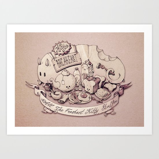 Catfood. Art Print