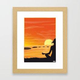 SUNSHINE YOGA Framed Art Print