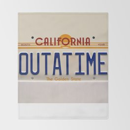 California Out A Time Throw Blanket