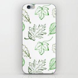 Leaves (greens) iPhone Skin