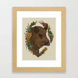 Wild Boar Framed Art Print