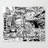 cartoons Canvas Prints featuring Cartoons and Cereal by abstractrebel