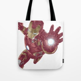 Ironman Super Character Design in Vector Tote Bag