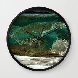Waves, Island of Jamestown, Narragansett Bay, Rhode Island Wall Clock