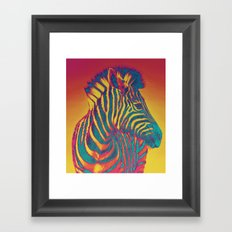 Trippy Zebra Framed Art Print