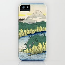 Hiroshige - 36 Views of Mount Fuji (1858) - 21: Lake at Hakone iPhone Case