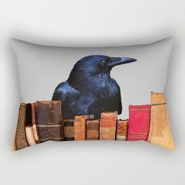 Raven Old antik Books #raven #society6 Rectangular Pillow