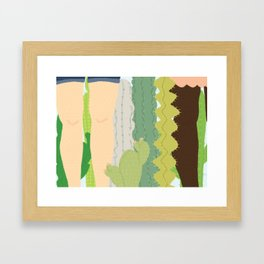 cacti legs Framed Art Print