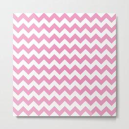 Light Pink Chevron Pattern Metal Print