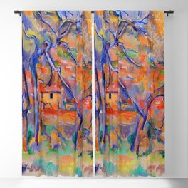 Paul Cezanne Trees and Houses in Provence Blackout Curtain