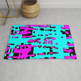 jitter, violet and blue 7 Rug