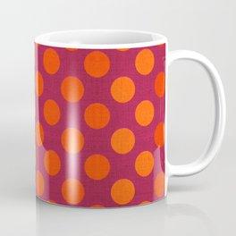"""""""Warm Burlap Texture & Polka Dots"""" Coffee Mug"""