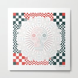SKULLII Metal Print