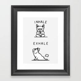 Inhale Exhale French Bulldog Framed Art Print