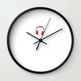 LaLaLa I Can't Hear You Sarcasm Musical Note Sarcastic Song Lovers Giftal Wall Clock