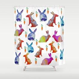 Rabbits Joy Shower Curtain