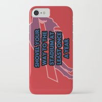 nfl iPhone & iPod Cases featuring NFL - Bills Shovel Your Way by Katieb1013