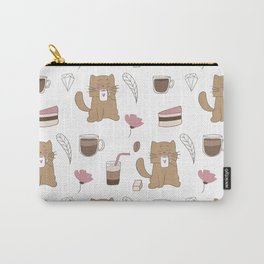 Cats and Coffee Carry-All Pouch