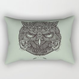 Warrior Owl Face Rectangular Pillow