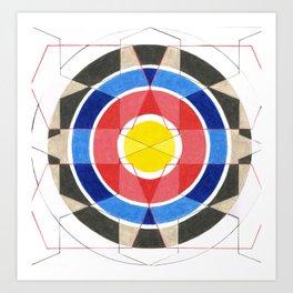 Fractured Target Art Print