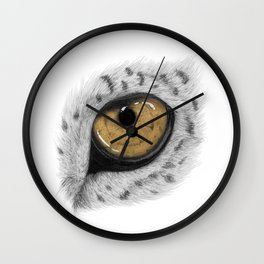 Gold Leopard Eye Wall Clock