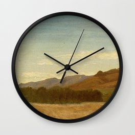 Albert Bierstadt - The Plains Near Fort Laramie Wall Clock