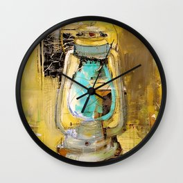 Old Lantern Wall Clock