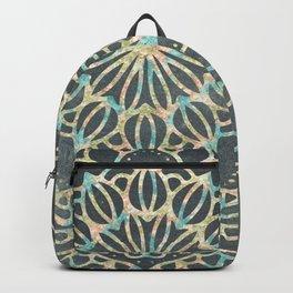 Sea Shimmer Mandala - Gold + Turquoise Backpack